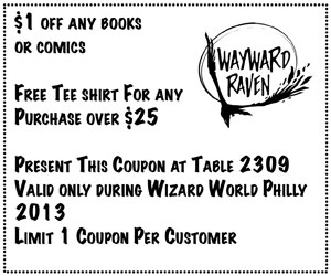 $1 off Any Book or Comic with this coupon at Wizard World Philly