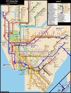 how to survive nycc | MTA Map